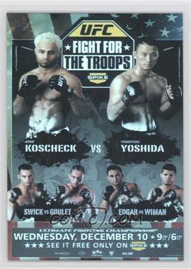 2009 Topps UFC - Fight Poster Review #FPR-UFN16 - Josh Koscheck, Yoshiyuki Yoshida