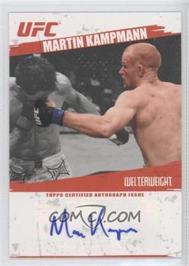 2009 Topps UFC - Fighter Autographs #FA-MK - Martin Kampmann