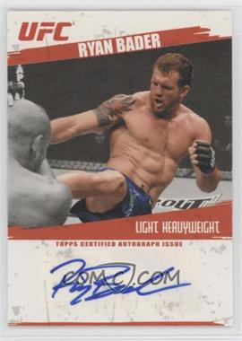 2009 Topps UFC - Fighter Autographs #FA-RB - Ryan Bader