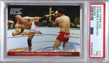 2009 Topps UFC Round 1 - [Base] #17 - Georges St-Pierre vs Karo Parisyan [PSA7NM]