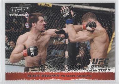 2009 Topps UFC Round 1 - [Base] #86 - Matt Brown vs Matt Arroyo