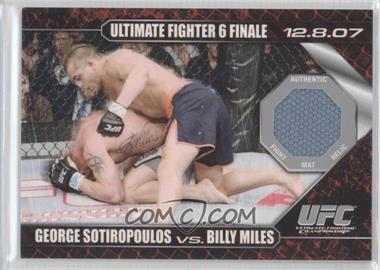 2009 Topps UFC Round 1 - Debut Mat Relics #DM-N/A - George Sotiropoulos vs Billy Miles