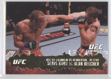 2009 Topps UFC Round 2 - [Base] - Gold #122 - Denis Kang vs Alan Belcher