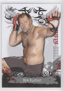 2010 Leaf MMA - [Base] #86 - Rob Kaman