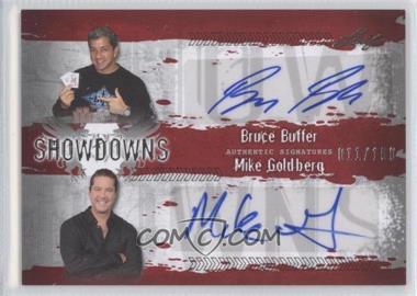 2010 Leaf MMA - Showdowns Dual Autographs - Red #BB1/MG2 - Bruce Buffer, Mike Goldberg /100