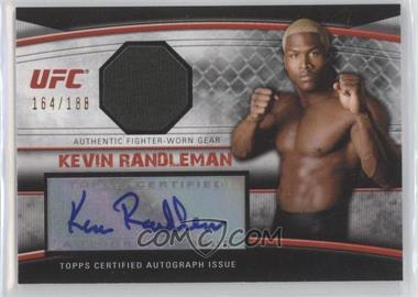 2010 Topps UFC Knockout - Autographed Fighter Gear Relic #AFG-KR - Kevin Randleman /188