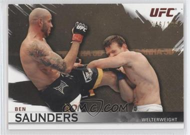 2010 Topps UFC Knockout - [Base] - Gold #99 - Ben Saunders /288