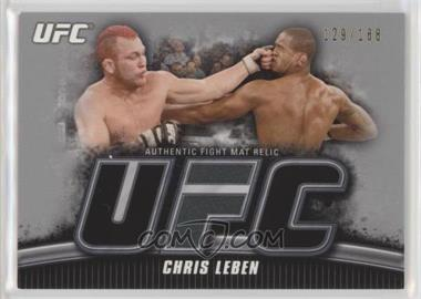 2010 Topps UFC Knockout - Fight Mat Relic - Silver #FM-CL - Chris Leben /188