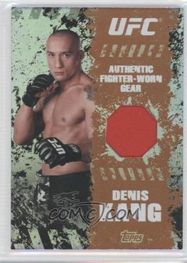 2010 Topps UFC Main Event - Fighter-Worn Relics - Bronze #FR-DK - Denis Kang /88