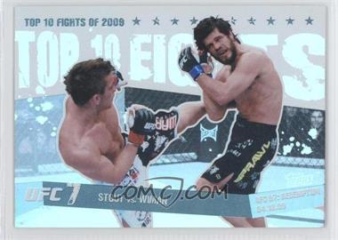 2010 Topps UFC Main Event - Top 10 Fights of 2009 - Black #TT09 21 - Sam Stout, Matt Wiman /88