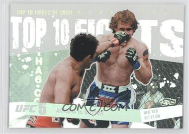 2010 Topps UFC Main Event - Top 10 Fights of 2009 #TT09 13 - Akiyama vs. Belcher