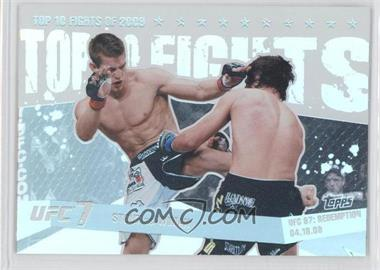 2010 Topps UFC Main Event - Top 10 Fights of 2009 #TT09 20 - Sam Stout vs. Matt Wiman