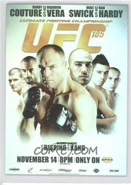 2010 Topps UFC Series 4 - Fight Poster Review #FPR-UFC105 - UFC105 (Randy Couture, Brandon Vera, Dan Hardy, Mike Swick, Michael Bisping, Denis Kang)