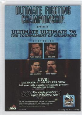 """2010 Topps UFC Series 4 - Fight Poster Review #FPR-UFCUU96 - UFCUU96 (Don Frye vs. """"Tank"""" Abbott)"""