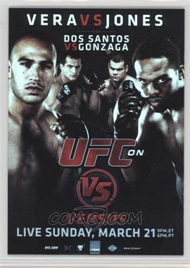 2010 Topps UFC Series 4 - Fight Poster Review #FPR-UFCVS1 - UFC on VS 1 (Jon Jones, Brandon Vera, Junior Dos Santos, Gabriel Gonzaga)