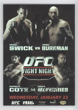 2010 Topps UFC Series 4 - Fight Poster Review #FPR-UFN12 - UFN12 (Mike Swick, Josh Burkman)