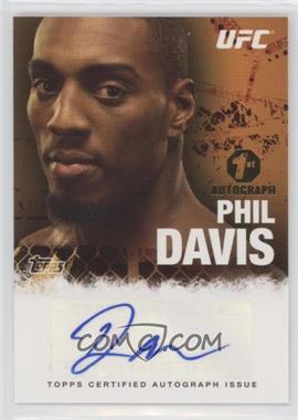 2010 Topps UFC Series 4 - Fighter Autographs #FA-PHD - Phil Davis