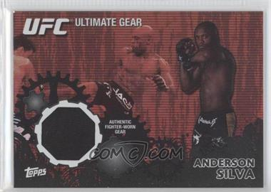 "2010 Topps UFC Series 4 - Ultimate Gear Relic - Onyx #UG-5 - Anderson ""The Spider"" Silva (Anderson Silva) /88"