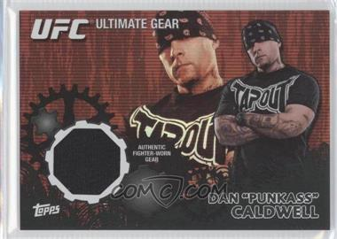"2010 Topps UFC Series 4 - Ultimate Gear Relic - Onyx #UG-DC - Dan ""Punkass"" Caldwell (Dan Caldwell) /88"