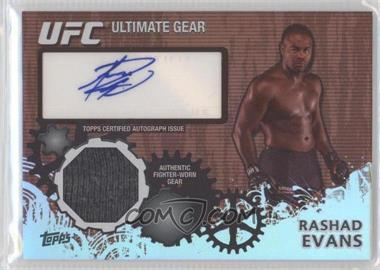 2010 Topps UFC Series 4 - Ultimate Gear Relic Autographs #UGA-RE - Rashad Evans /25