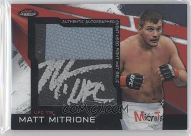 2011 Topps UFC Finest - Autographed Jumbo Mat Relic #AMR-MM - Matt Mitrione /25
