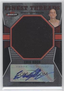 2011 Topps UFC Finest - Jumbo Finest Threads Autographs #JAR-EK - Erik Koch /25