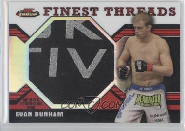 2011 Topps UFC Finest - Threads Jumbo Relics - Red Refractor #JR-ED - Evan Dunham /1