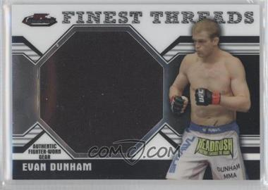 2011 Topps UFC Finest - Threads Jumbo Relics #JR-ED - Evan Dunham