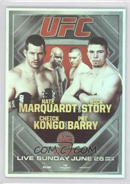 2011 Topps UFC Moment of Truth - Fight Poster Review #FPR-UFCVS4 - UFC on VS 4 (Nate Marquardt, Rick Story, Cheick Kongo, Pat Barry)