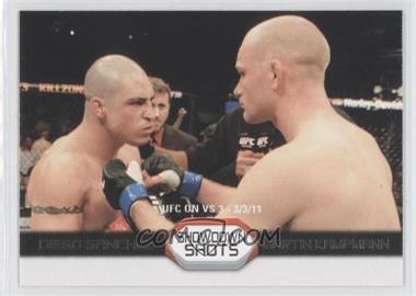 2011 Topps UFC Moment of Truth - Showdown Shots Duals #SS-SK - Diego Sanchez vs. Martin Kampmann