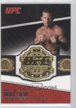 2011 Topps UFC Title Shot - Championship Belt Plate Relic #CB-PM - Pat Miletich