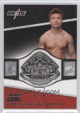 2011 Topps UFC Title Shot - Championship Belt Plate Relic #CB-TG - Takanori Gomi