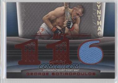 2011 Topps UFC Title Shot - Fight Mat Relic - Red #FM-GS - George Sotiropoulos /8