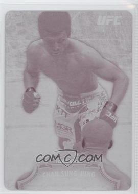 2012 Topps UFC Bloodlines - [Base] - Printing Plate Magenta #34 - Chan Sung Jung /1