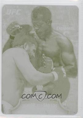 2012 Topps UFC Bloodlines - [Base] - Printing Plate Yellow #19 - Junior Dos Santos /1