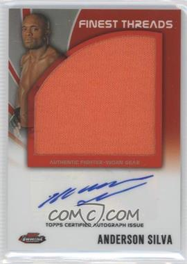 "2012 Topps UFC Finest - Autographed Finest Threads #AFT-AS - Anderson ""The Spider"" Silva (Anderson Silva)"
