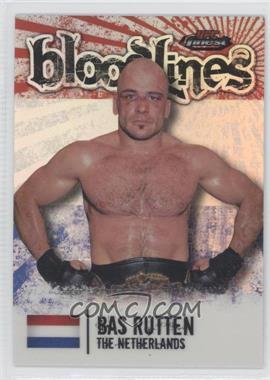 2012 Topps UFC Finest - Bloodlines #BL-BR - Bas Rutten