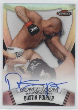 2012 Topps UFC Finest - Fighter Refractor Autographs #A-DP - Dustin Poirier