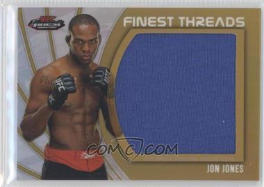 "2012 Topps UFC Finest - Jumbo Finest Threads - Gold Refractor #JFT-JJ - Jon ""Bones"" Jones (Jon Jones) /88"