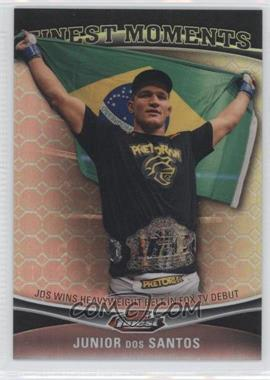 2012 Topps UFC Finest - Moments - Black Octo-Fractor #FM-JDS - Junior Dos Santos /8