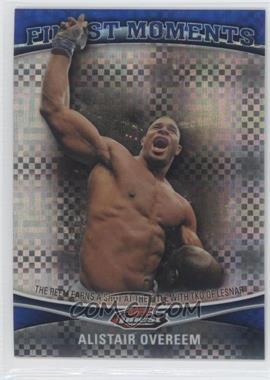 2012 Topps UFC Finest - Moments - Blue X-Fractor #FM-AO - Alistair Overeem /188