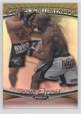 2012 Topps UFC Finest - Moments - Gold Refractor #FM-CK - Cheick Kongo /88