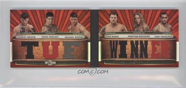 2012 Topps UFC Knockout - [???] #TTRDC-GSBBBF - Forrest Griffin, Diego Sanchez, Michael Bisping, Ryan Bader, Jonathan Brookins, Tony Ferguson