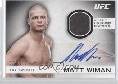 2012 Topps UFC Knockout - Fight Gear Autographs #AFG-MW - Matt Wiman /275