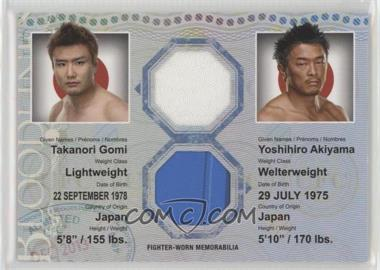2013 Topps UFC Bloodlines - Bloodlines Dual Relic #DR-GA - Takanori Gomi, Yoshihiro Akiyama /88