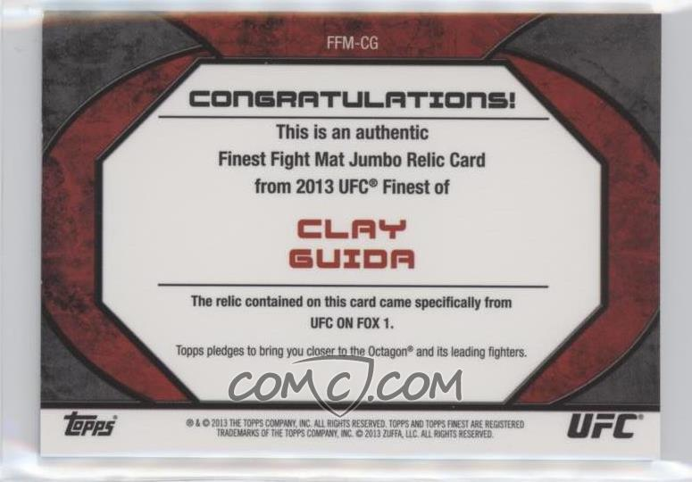 2013 Topps UFC Finest - Fight Mat Jumbo Relic #FFM-CG - Clay Guida ...