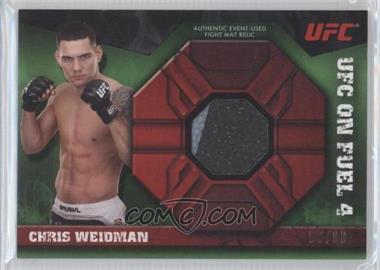 2013 Topps UFC Knockout - Fight Mat Relic - Green #FMR-CW - Chris Weidman /88