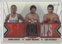 Ronda Rousey, Gilbert Melendez, Luke Rockhold #/36