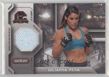 2014 Topps UFC Champions - Fighter Mat Relics #FMR-JP - Julianna Pena