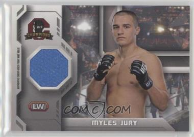 2014 Topps UFC Champions - Fighter Mat Relics #FMR-MJ - Myles Jury